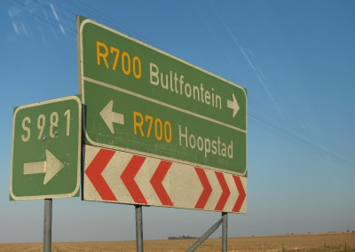 Replacement of road signs