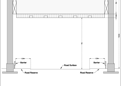 Road Reserve Billboard Site_Schematic structural drawing